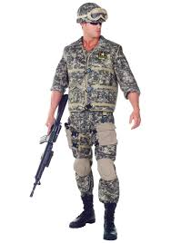 Halloween Costumes Military Deluxe Army Ranger Costume