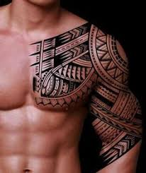 half sleeve tribal designs for chest