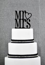wedding cake options mr and mrs cake topper with heart accent custom wedding cake