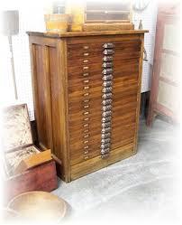 antique hamilton letterpress cabinet with 20 printer block drawers