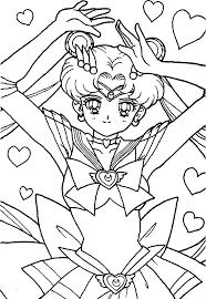 raise hand sailor moon coloring pages sailor moon