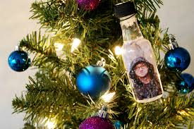 how to turn liquor bottles into photo snow globe ornaments