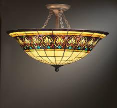 Flush Mount Stained Glass Ceiling Light Lovely Tropical Pendant Lighting 39 On Kitchen Ceiling Lights