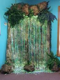 jungle theme decorations for rainforest tropical waterfall jungle theme church
