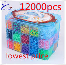looms bracelet kit images 12000pcs crazy and fun rubber loom band kit kids diy bracelet jpg