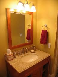Bathroom Lamps Yellow Wall Paint Ring Handtowelshelf Granite Countertop Mounted