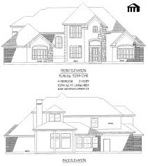 3234 0411 square feet 4 bedroom 2 story house plan 1 story 4 bedroom 3 1 2 bathroom 1 dining area