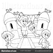bounce house coloring page kids drawing and coloring pages
