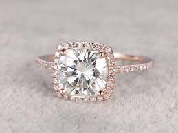 custom wedding rings moissanite engagement ring diamond wedding ring 14k gold