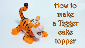 z cake topper how to make a tigger cake topper jak zrobić figurkę tygryska z