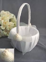 wedding baskets sea shell flower girl basket for weddings