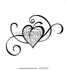 vector drawing heart shape tree icon stock vector 238261117