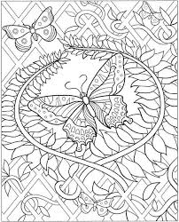 detailed butterfly coloring pages for adults super idea detailed coloring pages printable for adults kids 10672