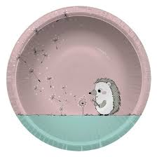 paper bowls cheeky kids gray hedgehog with light pink paper bowls 30ct 20oz
