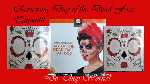 day of the dead face tattoos review youtube