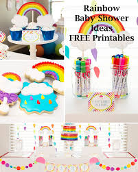 rainbow party ideas free rainbow printables rainbow baby
