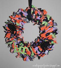 Wreath Halloween Erratic Project Junkie Halloween Rag Wreath