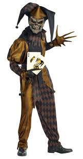evil jesters mens halloween fancy dress scary circus joker horror