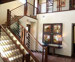 Modern Stair Banister Stair Railing Remodels Custom Woodworking Fireplace Mantels