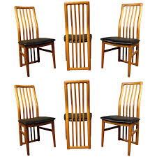six kai kristiansen teak dining room chairs for schou andersen