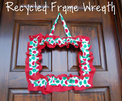 random thoughts of a supermom recycled frame wreath
