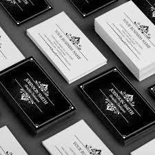 premium black and white double sided personal business card templates