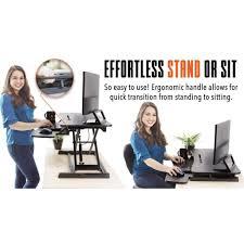 using a sit stand desk flexpro hero 32 sit stand desk converter standing steady kylma32bl 856 jpg v 1522598840