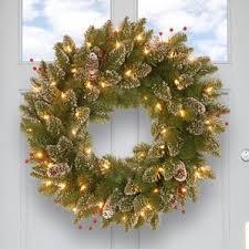 battery operated wreaths wayfair