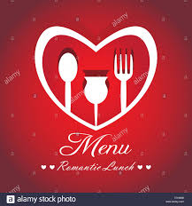 menu card design for restaurants with wine red color and heart