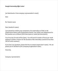 8 internship offer letters free samples examples format