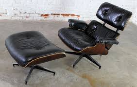 Eames Chair Sold Vintage Eames Lounge Chair Ottoman In Black Leather