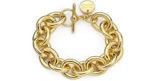 1ar by unoaerre lyst 1ar by unoaerre oval link bracelet in metallic
