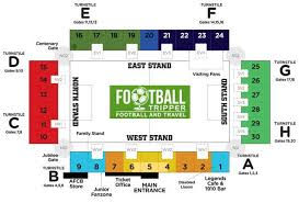 Centre Bell Floor Plan Dean Court Stadium Afc Bournemouth Football Tripper