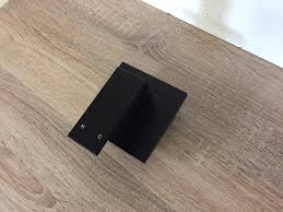 ettore premium electroplated matte black square wall mounted