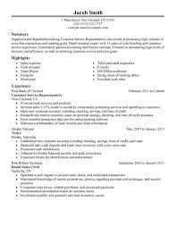 Sample Summary Resume by Customer Service Representative Resume Example Summary