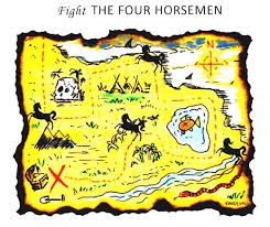 treasure map treasure maps found adventure map for fight the four