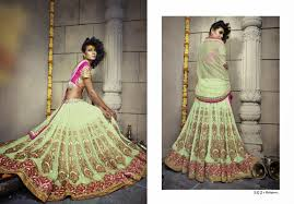 pretty pista green lehenga choli