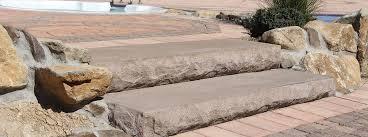 rockface stair treads nicolock pavers