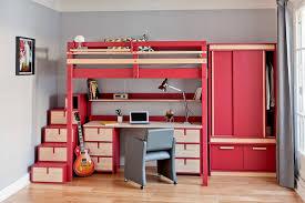 lit mezzanine avec bureau et rangement lits mezzanines urbaine