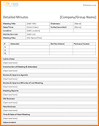 8 meeting minutes template free itinerary template sample