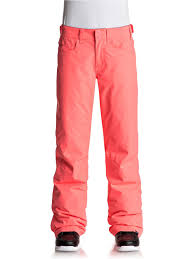2018 roxy backyard snow pants neon grapefruit