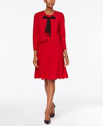charter club a line sweater dress u0026 bolero jacket created for