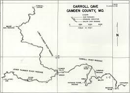 missouri caves map geology of carroll cave by a helwig