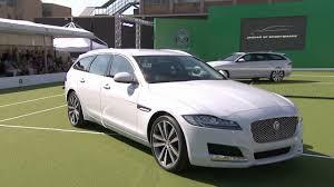 2017 jaguar xf sportbrake revealed by andy murray youtube