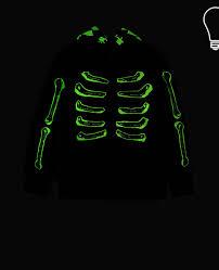 glow in the dark l in the dark l bandit black skeleton hoodie stella mccartney kids