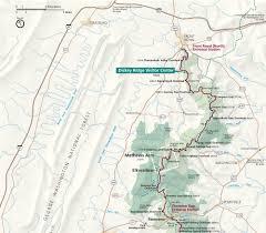 Smoky Mountain National Park Map Shenandoah National Park Map Guide National Park
