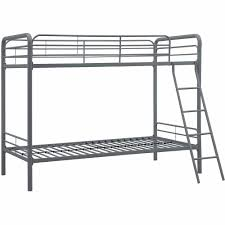 White Metal Bunk Bed Dhp Metal Bunk Bed Frame Colors Walmart