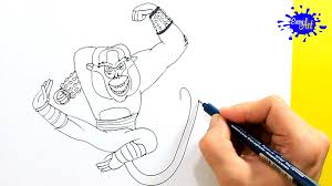 how to draw monkey master kung fu panda 3 como dibujar al
