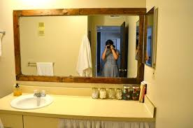 Wooden Bathroom Mirror Schultz Framing A Bathroom Mirror With Pallets