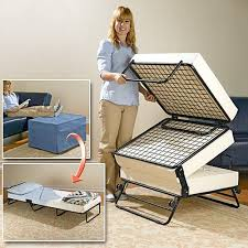 Folding Ottoman Bed An Ottoman That Turns Into A Guest Bed That Is Awesome Www